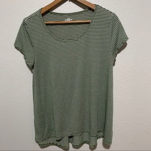 SO Army Green/White Striped Tee